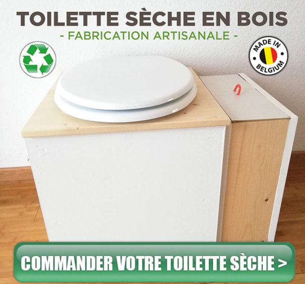 Commande-toilette-sèche d'intérieur en bois belgique