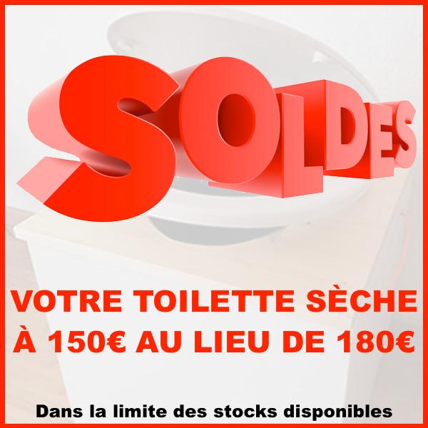 Toilette sèche soldes